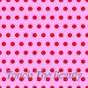 Розовый фетр в крупный красный горошек