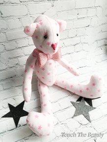 """Медвежонок """"Пинки"""" (розовый в звездочку)"""
