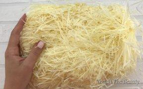 Наполнитель тишью светло-желтый, 50 грамм