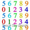 №334 Цифры разноцветные