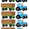 №365 Синий трактор с прицепом