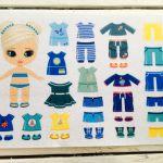 №53 Кукла с одеждой синий