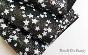 Кожзам крупная звезда 20*30 см (белая на черном)