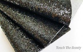 Кожзам крупные блестки 20*30 см (черный)