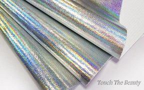 Кожзам мерцание 20*30 см (серебро)