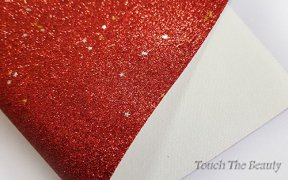 Кожзам мелкая звезда 20*30 см (красный)