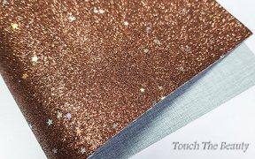 Кожзам мелкая звезда 20*30 см (коричневый)