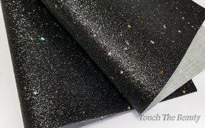 Кожзам мелкая звезда 20*30 см (черный)
