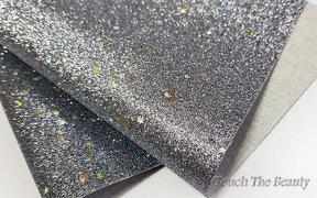 Кожзам мелкая звезда 20*30 см (темное серебро)