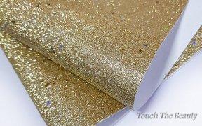 Кожзам мелкая звезда 20*30 см (золото)
