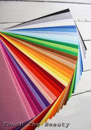 Набор цветного фетра touchthebeauty китайский купить палитра украина днепр киев на метраж листовой