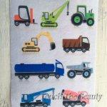 №95 Строительные машины (разноцветные)