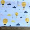 """Ткань польская """"Воздушные шары с облаками"""""""